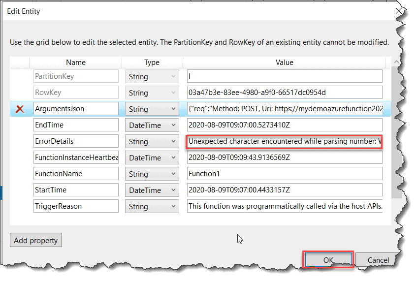 how to send azure function log to blob storage