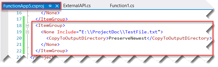 how to store file in azure function