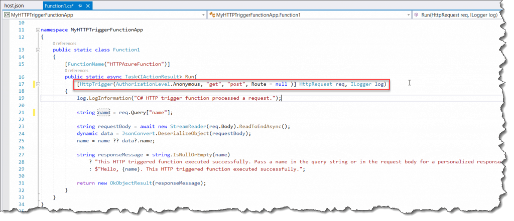 microsoft.azure.webjobs.host error indexing method cannot bind parameter