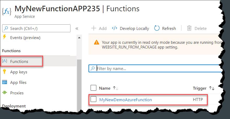publish Azure function using visual studio code