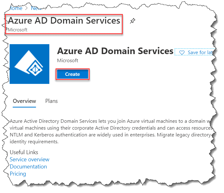 Settings up azure active directory domain services