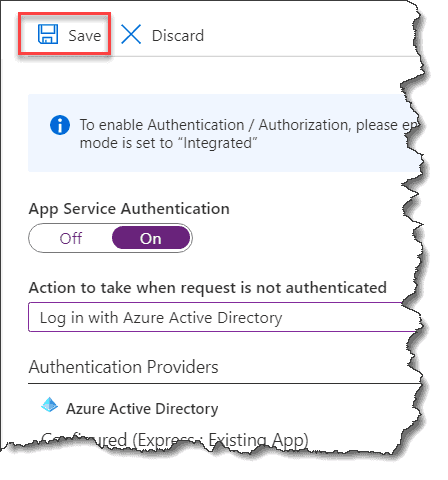 Authenticate an Azure Function with Azure AD