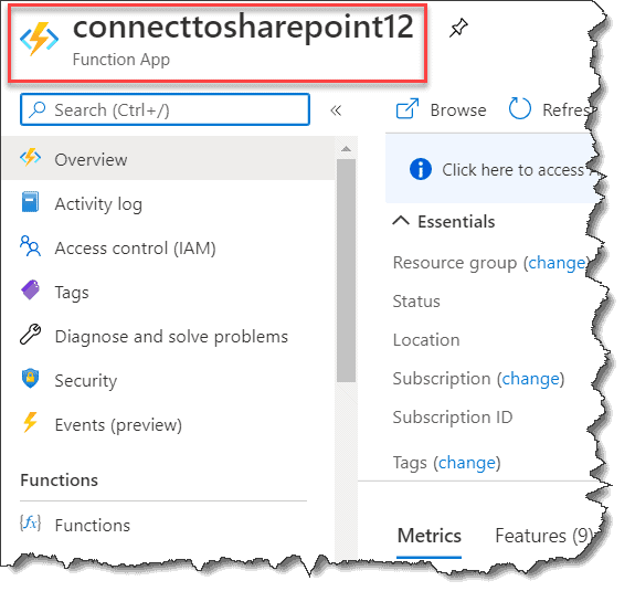 Azure Function, Connect To SharePoint