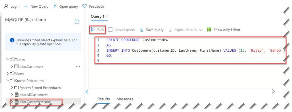 Call A Stored Procedure From Azure Functions