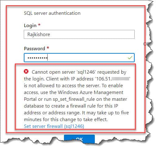 Cannot Open Server Requested By The Login Azure SQL