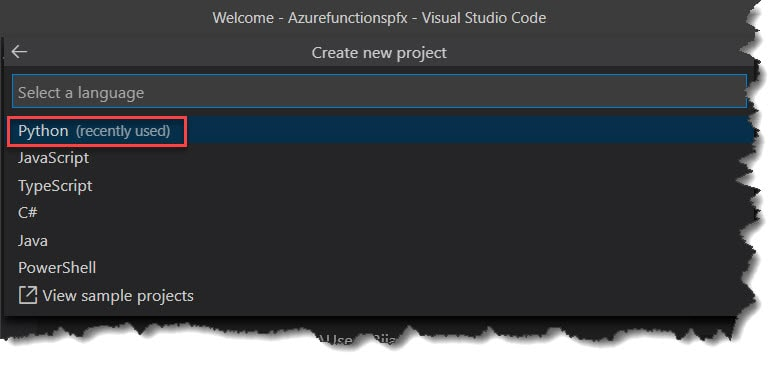 Create Azure Functions In Python