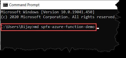 Create SharePoint Framework Webpart to call Azure Function