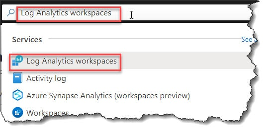 Create a Log Analytics workspace in the Azure portal