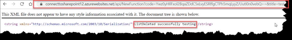 Delete SharePoint Online List From Azure Function CSOM