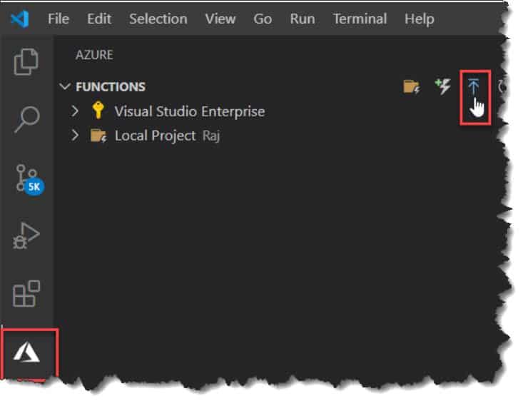 Deploy PowerShell Azure Function From Visual Studio Code