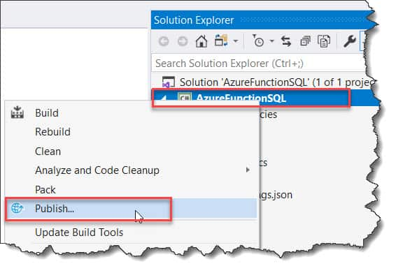 Deploy the Azure Timer Trigger Function to Azure From Visual Studio 2019