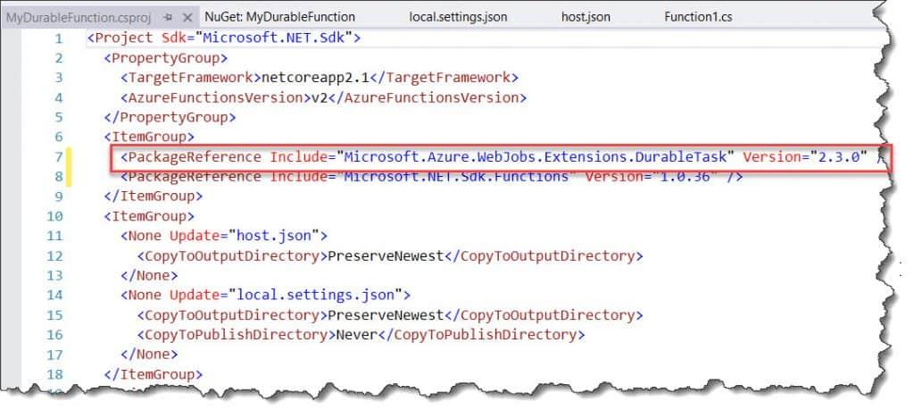 Develop Durable Function Using Visual Studio 2019
