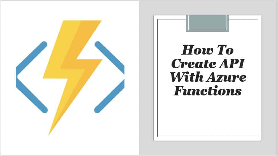 How To Create API With Azure Functions