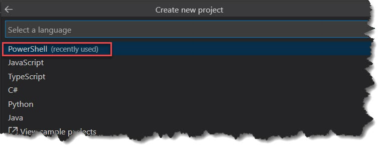 How To Create PowerShell Azure Function using Visual Studio Code