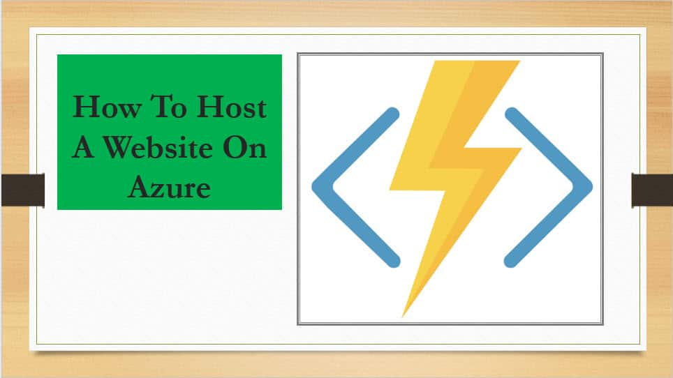 How To Host A Website On Azure