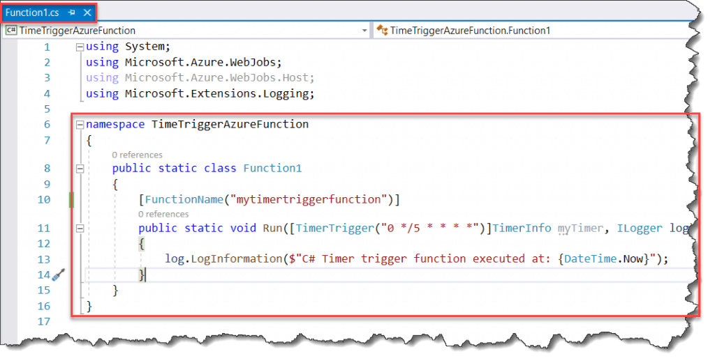 How To develop Azure Functions Time Trigger From Visual Studio 2019