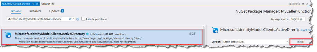 How to Authenticate Azure Function with Azure AD