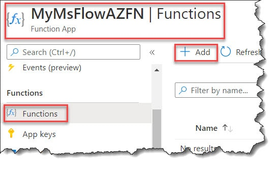 How to Call Azure Function From Power Automate (MS Flow)