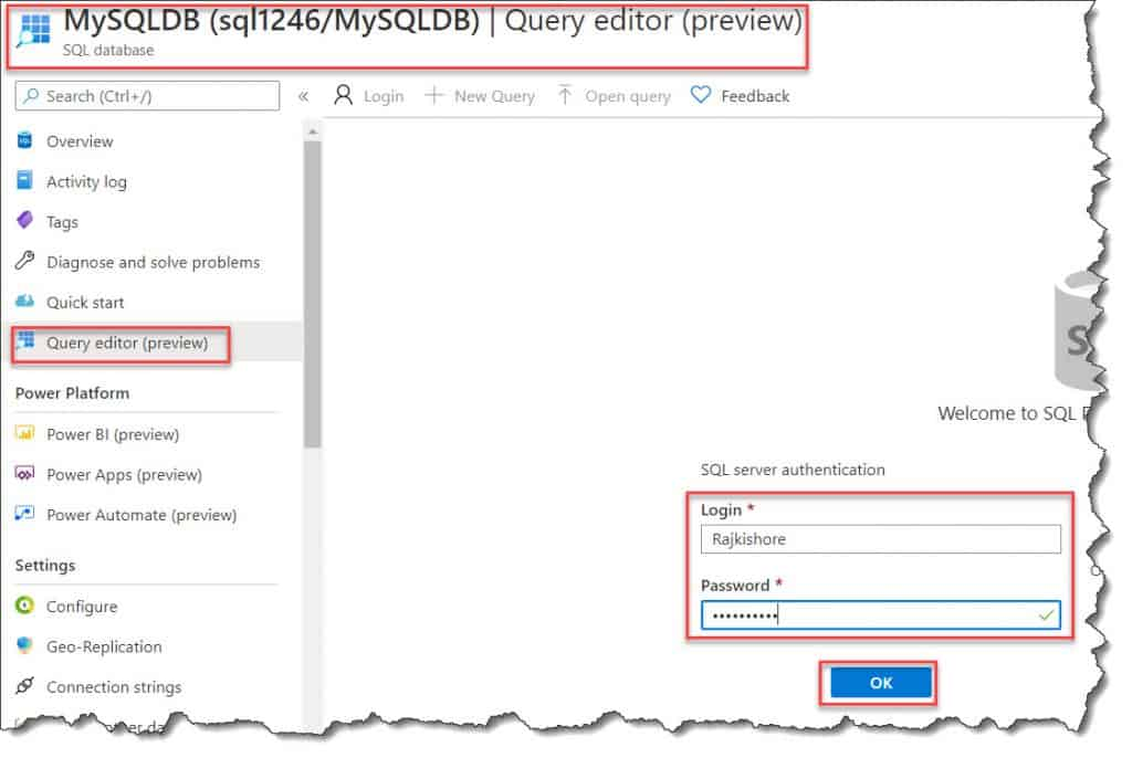 How to Create A Stored Procedure In The Azure SQL Database Using The Azure Portal
