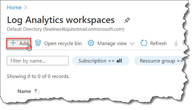 How to Create a Log Analytics workspace in the Azure portal