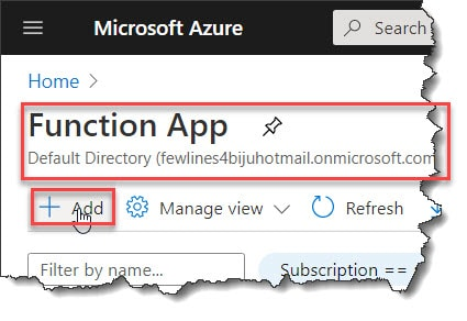 How to Create a simple scheduled trigger in Azure Portal
