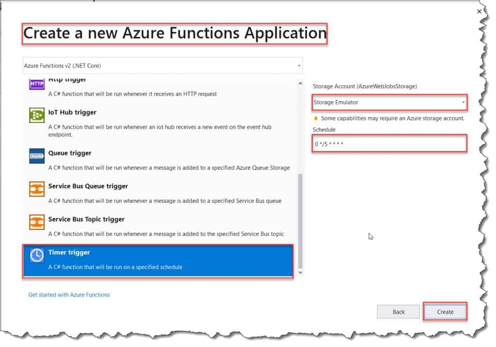 How to Create an Azure Timer Trigger Function using Visual Studio 2019