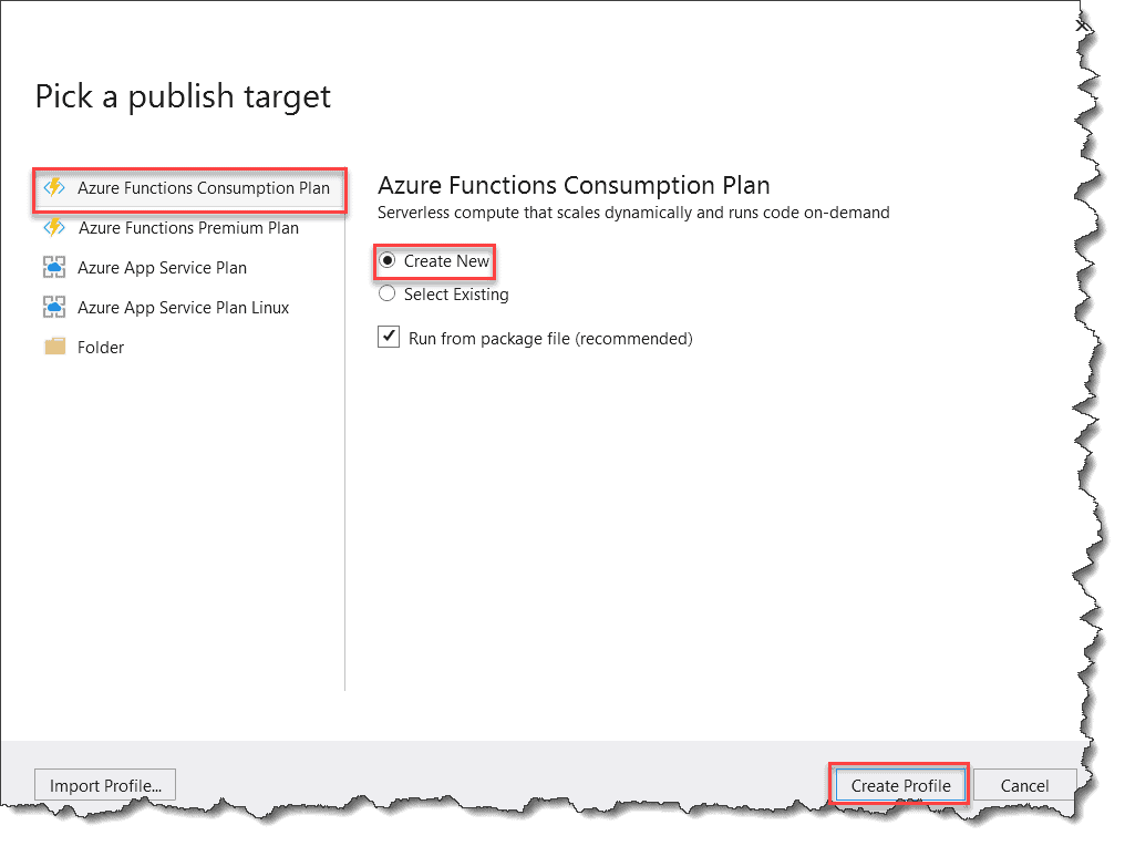 How to Deploy Blob Trigger Azure Function From Visual Studio 2019
