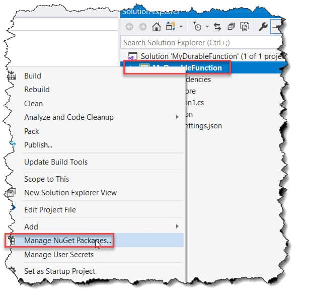 How to Enable Durable Functions in Visual Studio 2019