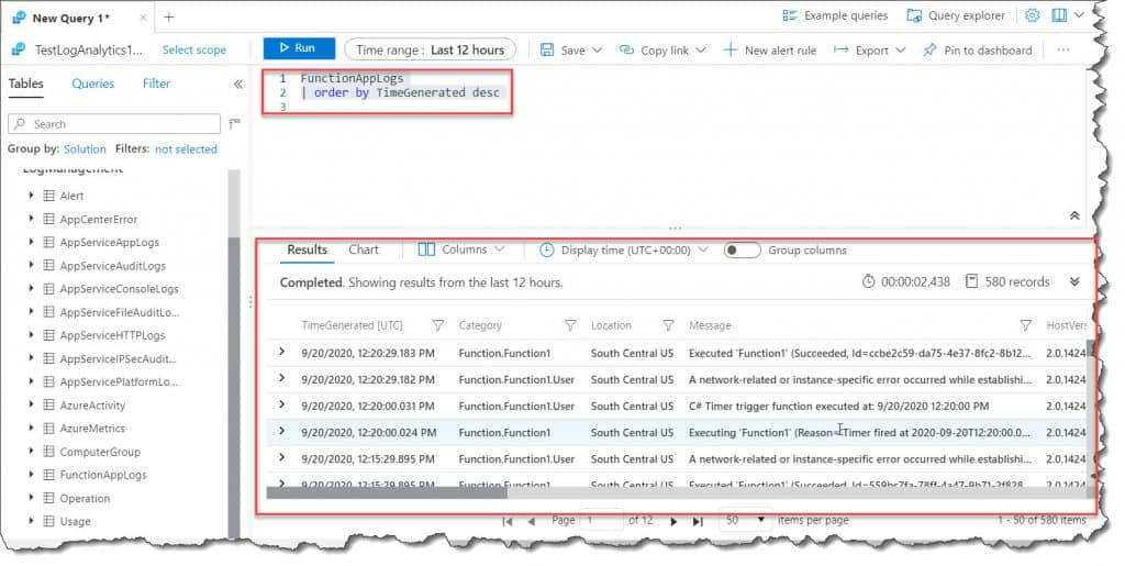 How to Query the Azure Monitor logs