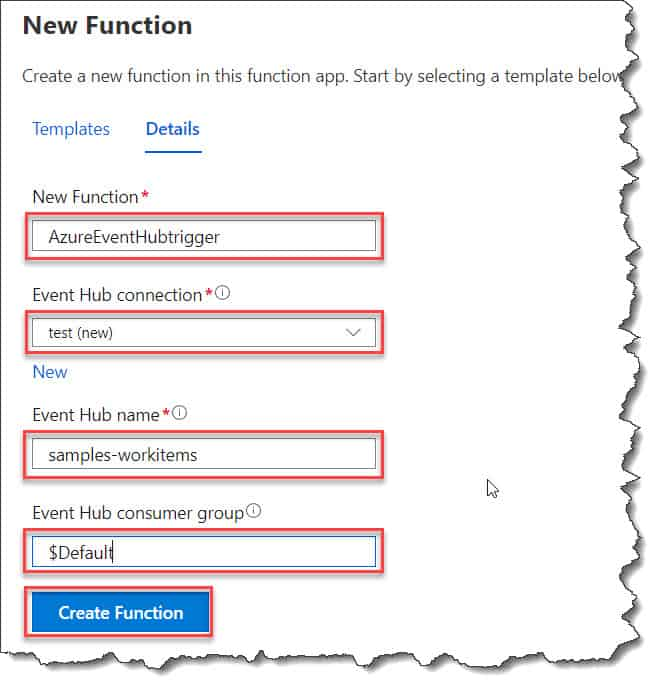 How to create Azure Event Hub Trigger