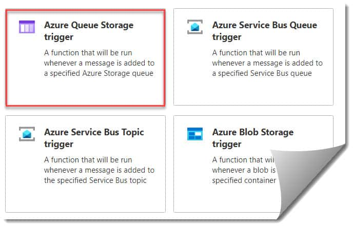 How to create Azure Function Queue Trigger