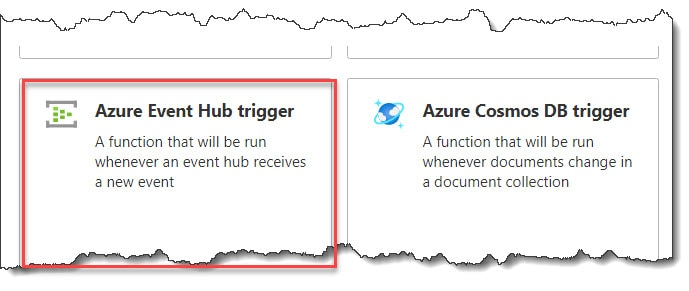 How to create an Azure Event Hub trigger