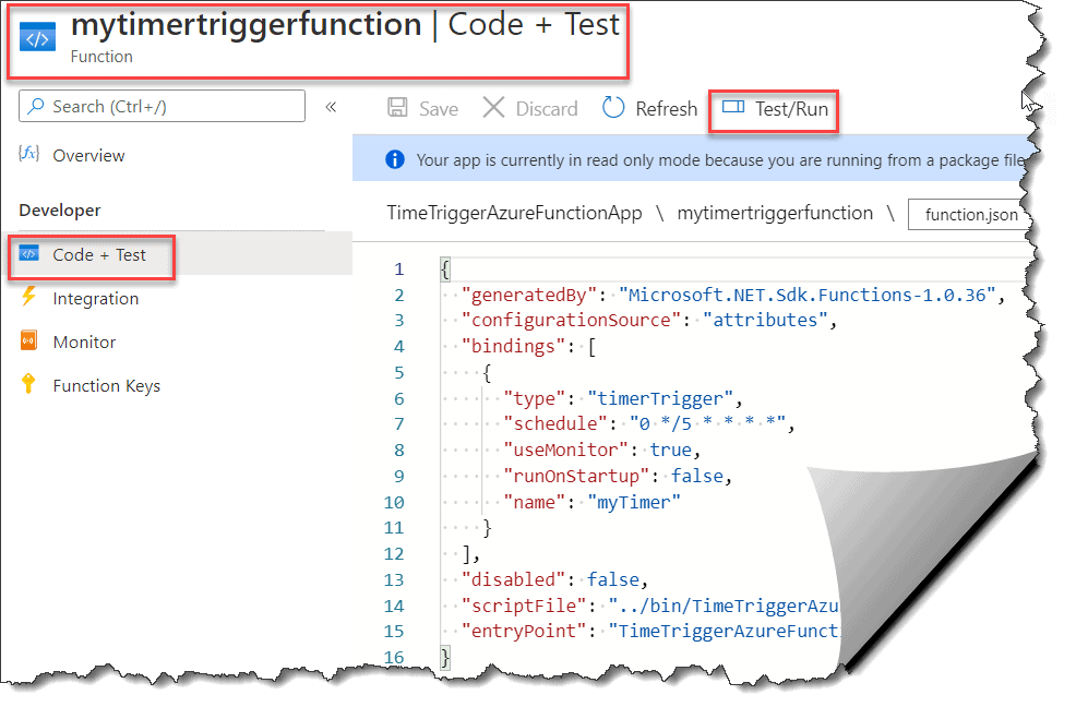 How to deploy Azure Functions Time Trigger from Visual Studio