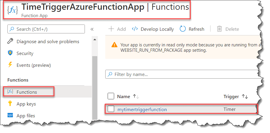 How to deploy Azure Functions Time Trigger using Visual Studio 2019