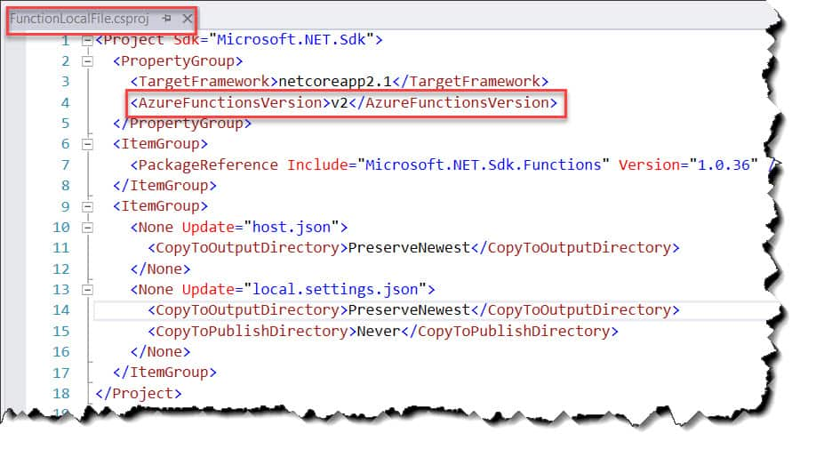How to find Azure Functions Run Time Version in the Visual Studio 2017