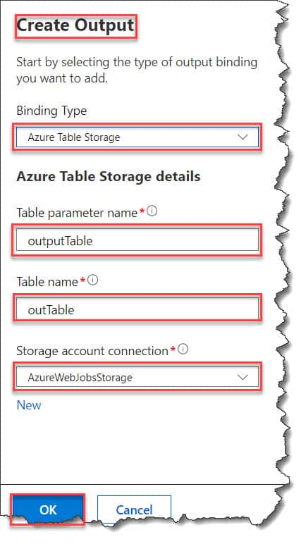 How to implement Azure Function Multiple Output Bindings