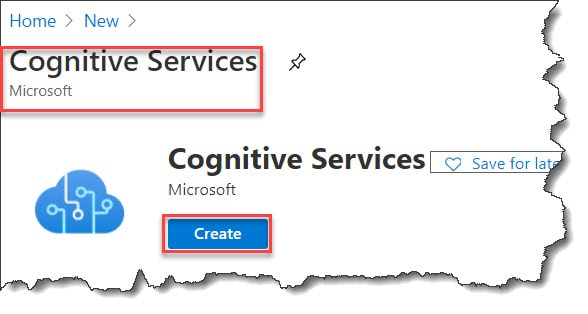 How to use Microsoft cognitive services API