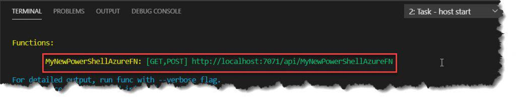 Run PowerShell Azure Function Locally