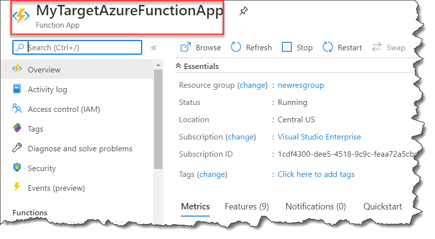 Secure Azure function with Azure Active Directory