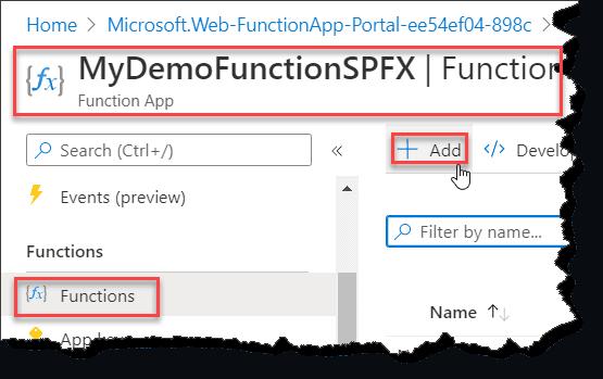 SharePoint Framework - Call Azure Function