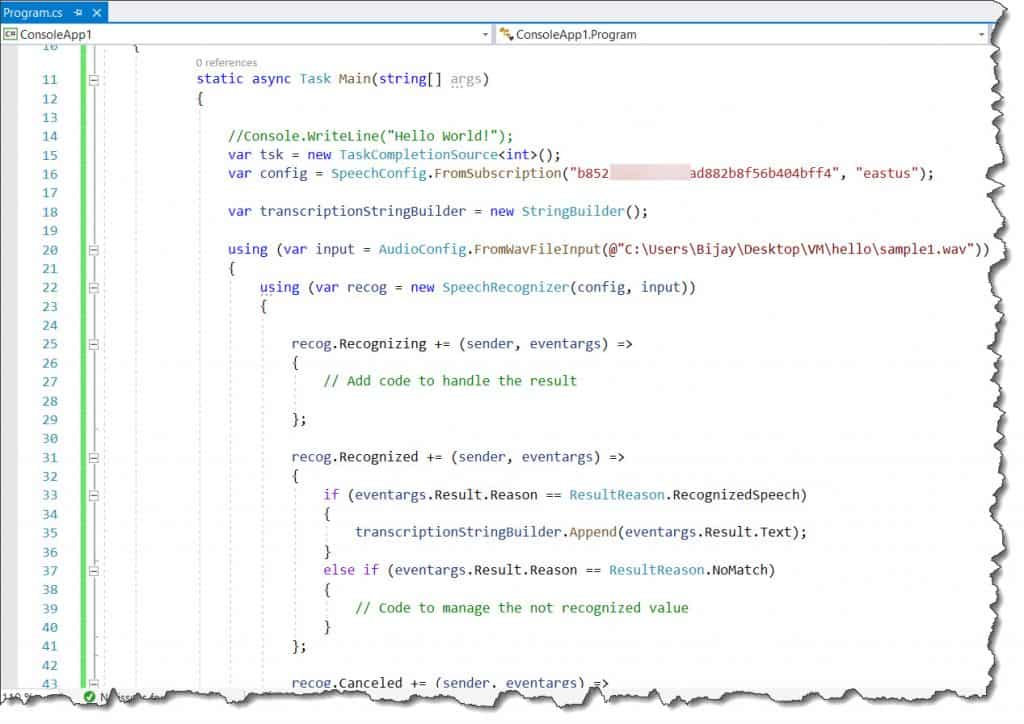 Steps to Convert m4a File To Text Using Azure Cognitive Services
