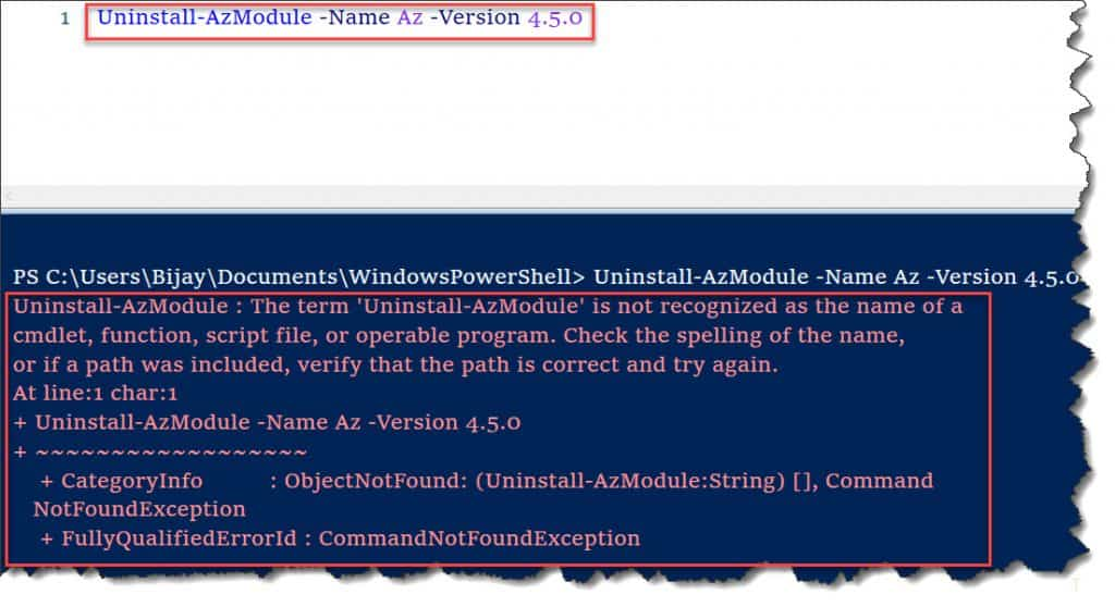 Uninstall-AzModule is not recognized