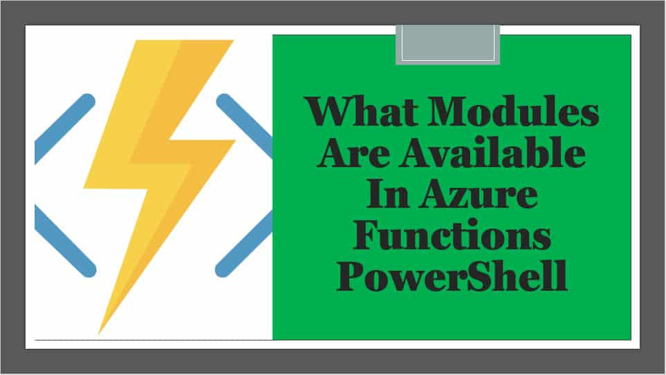 What Modules Are Available In Azure Functions PowerShell