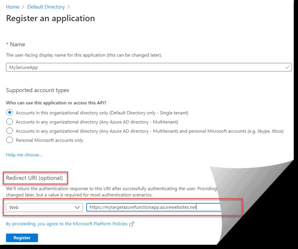 Where To Set Azure AD Redirect URI