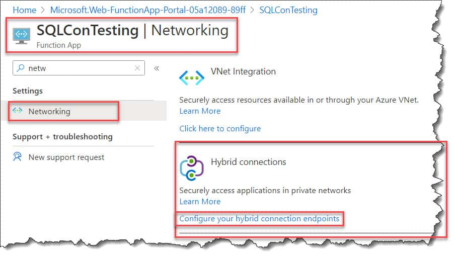 azure function app connect to sql database