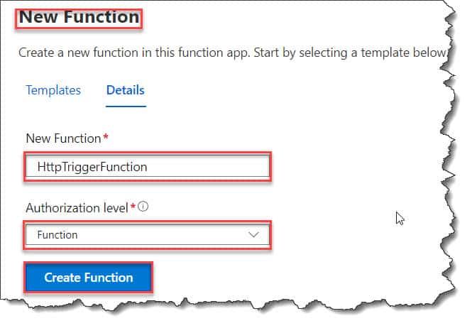 azure function httprequest