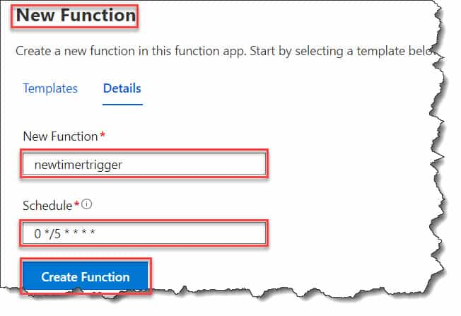 azure function timer trigger schedule expression