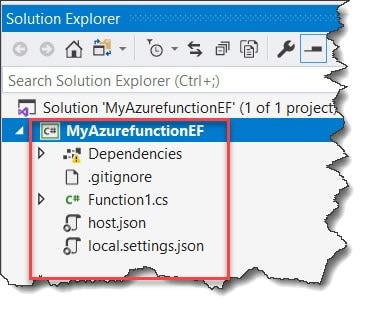 azure functions entity framework provider