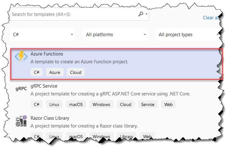 azure functions entity framework