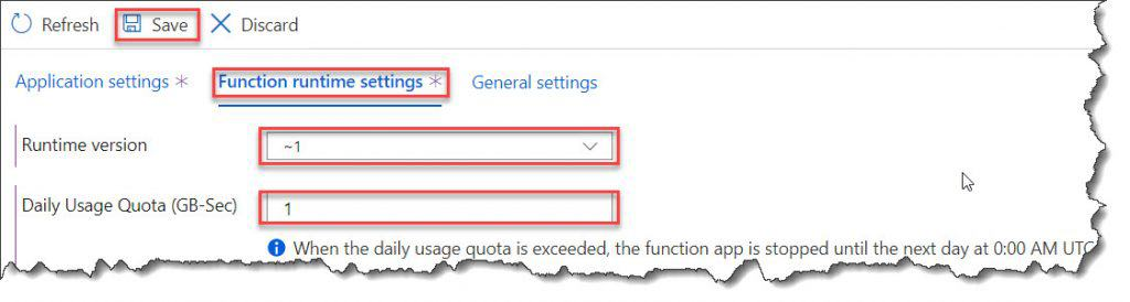 azure functions runtime version